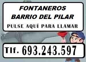 Fontaneros Barrio del Pilar Madrid Urgentes