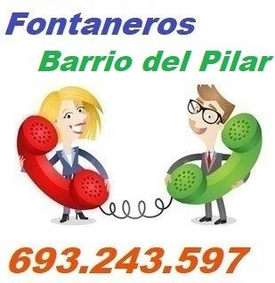 Telefono de la empresa fontaneros Barrio del Pilar